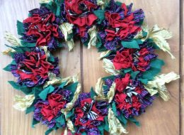 Make a seat mat or a festive wreath using Progging, the vintage technique for rag rugs.