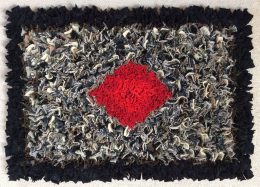 Rag rug making at Museum of Carpet
