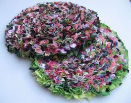 Rag rug making in Staffordshire
