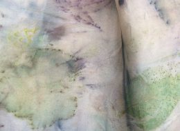 Botanical printing onto papers and felt